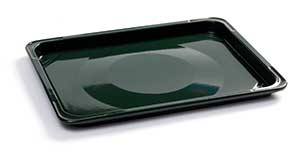 Enamel Baking or Roasting Tray (Green)
